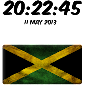Jamaica Digital Clock