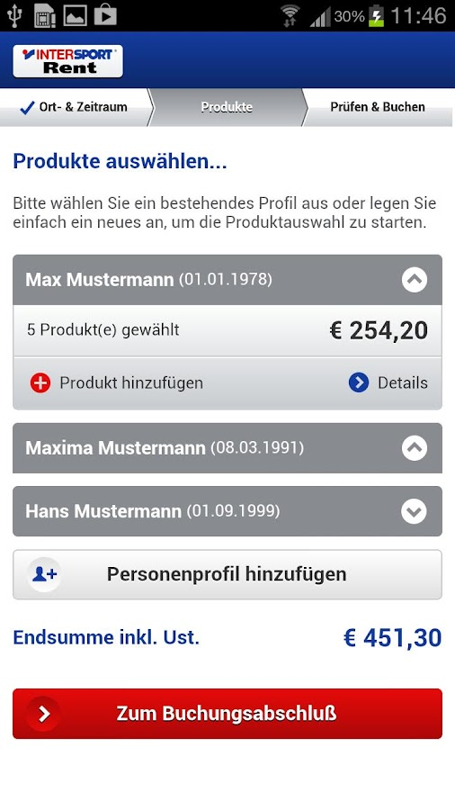 INTERSPORT Rent Austria - screenshot