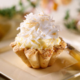 Coconut Cream Tarts with Macadamia Nut Crusts