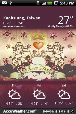 9s-Weather Theme+(Valentines)- screenshot
