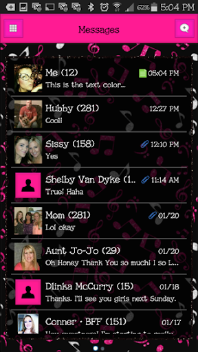 GO SMS THEME - EQ9