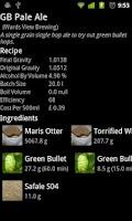 Screenshot of BeerXML2 Recipe Viewer