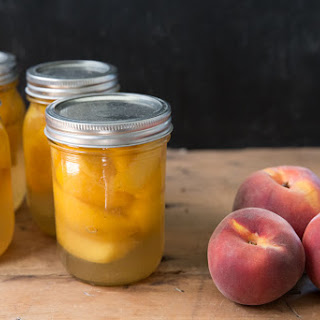 Canned Peaches with Honey Simple Syrup