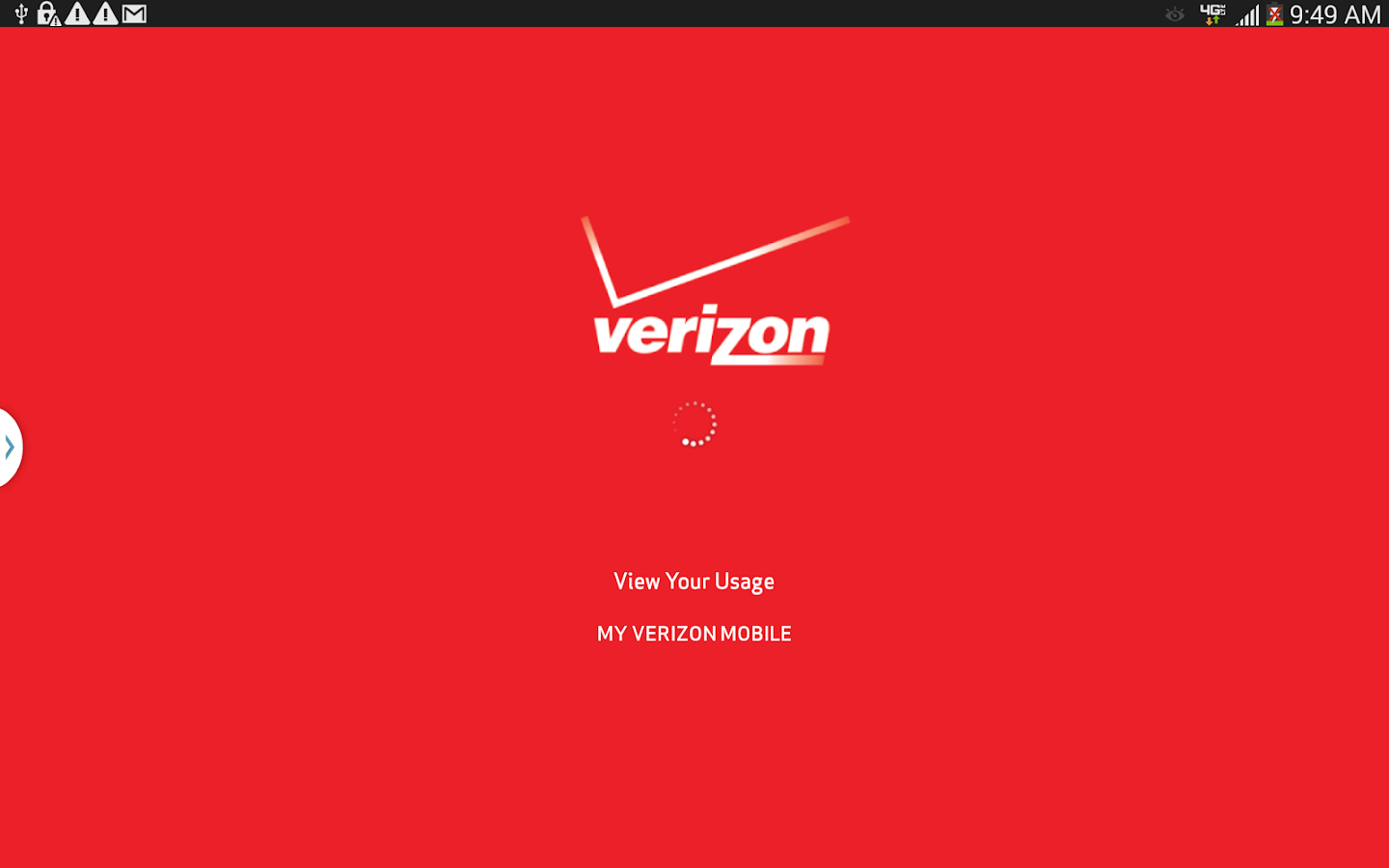 My Verizon Mobile for Tablets- screenshot