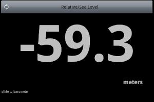 Screenshot of Altimeter Barometer