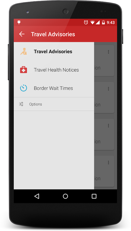 Canadian Travellers: Advisories & Border Wait Time- screenshot