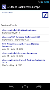 Deutsche Bank Events Europe