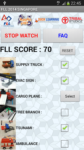 FLL Nature's Fury Score App