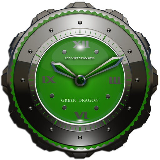 緑ドラゴン時計ウィジェット 生活 App LOGO-硬是要APP