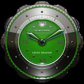 Dragon Clock widget green