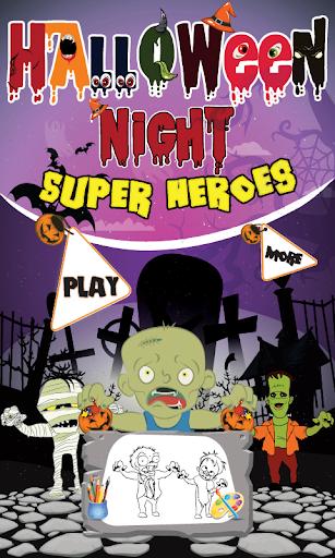 Halloween Night Super Heroes