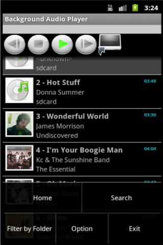 Background Audio Player - screenshot