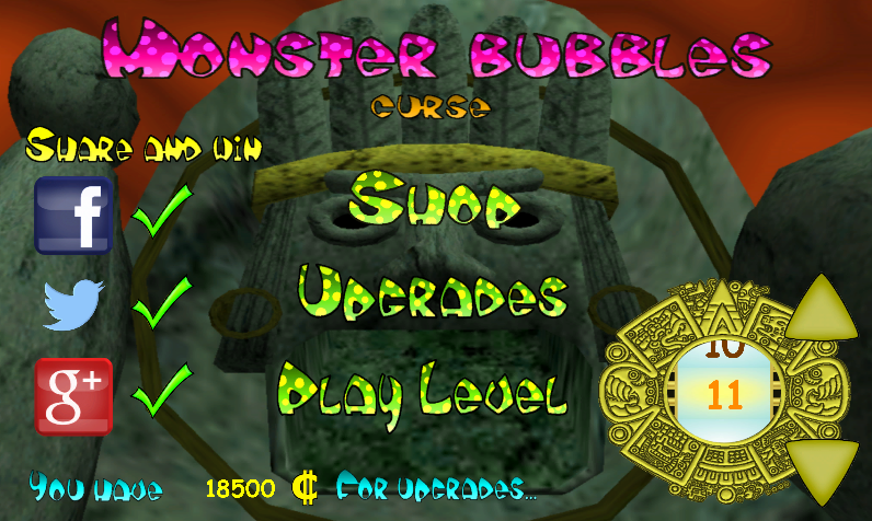 Monster Bubbles Curse (Pang)- screenshot