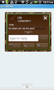 GO SMS THEME/GreenGiraffe - screenshot thumbnail