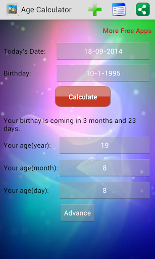 Age Calculator Easy Birthday