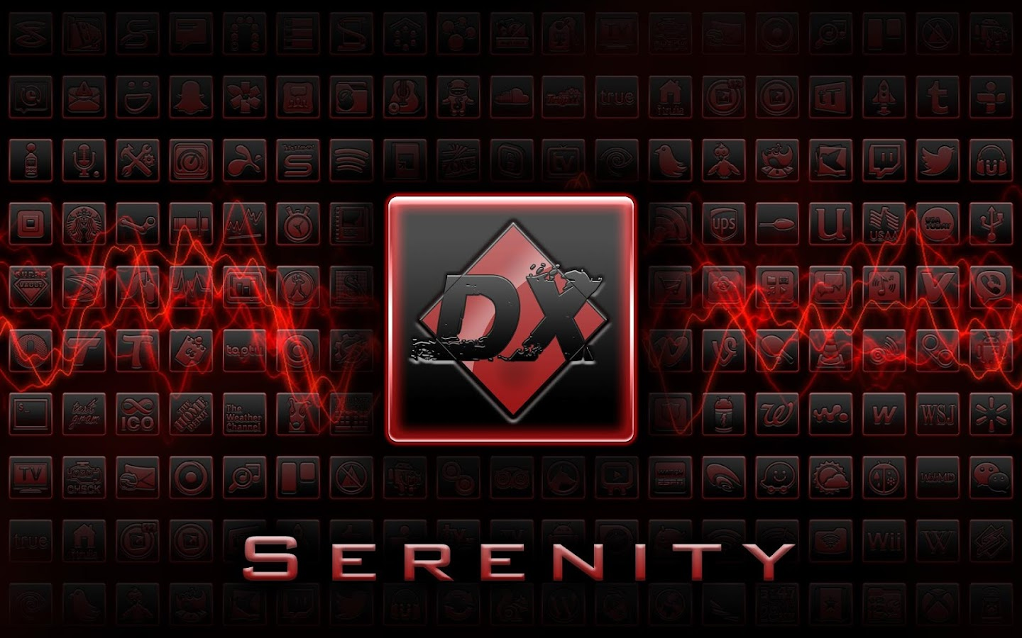 BigDX Serenity ADW Theme Red - screenshot
