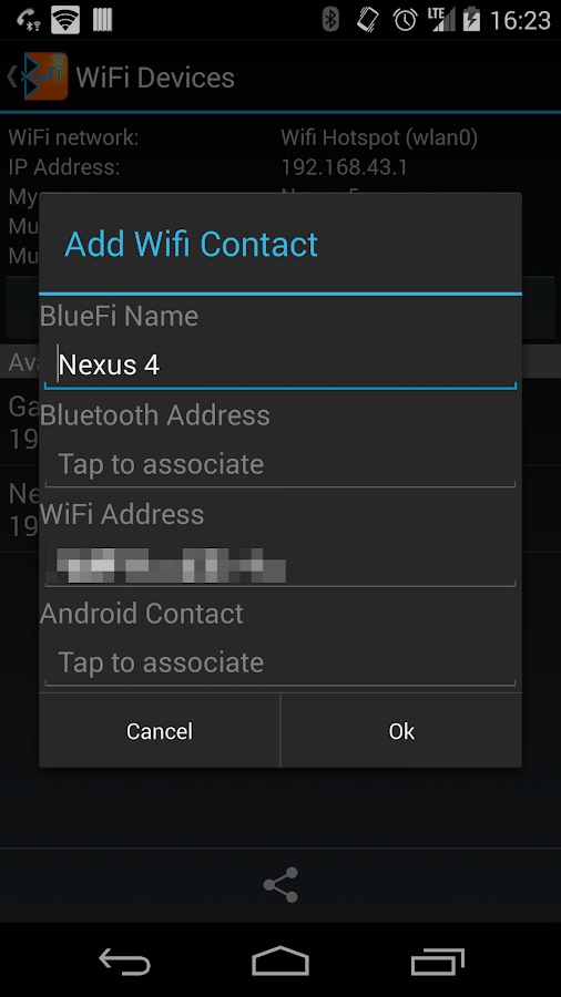 BlueFi Phone Full - screenshot