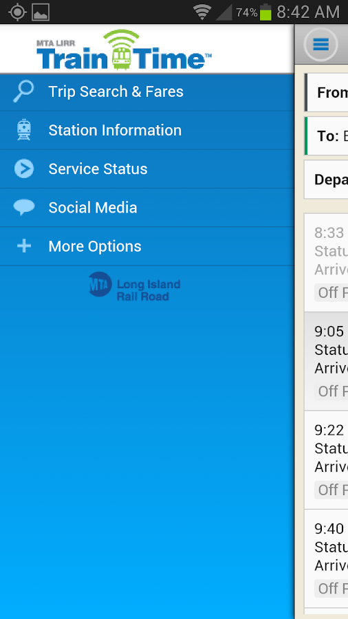 LIRR TrainTime - screenshot