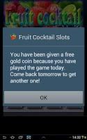 Screenshot of Fruit Cocktail Slots