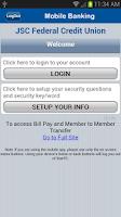 Screenshot of JSC FCU Mobile