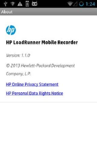 HP LoadRunner Mobile Recorder - screenshot