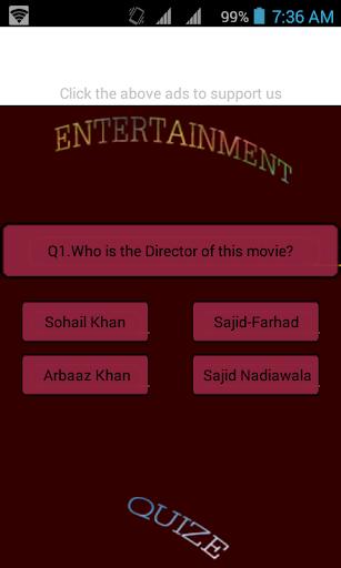 Entertainmen -- Movie quize
