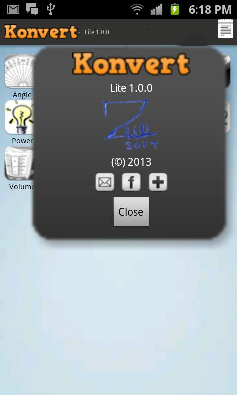 Konvert lite - unit converter - screenshot