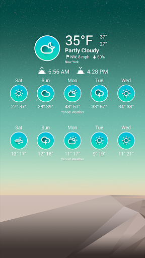 Chronus Turquoise Weather Icon