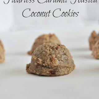 Flourless Toasted Coconut Caramel Cookies