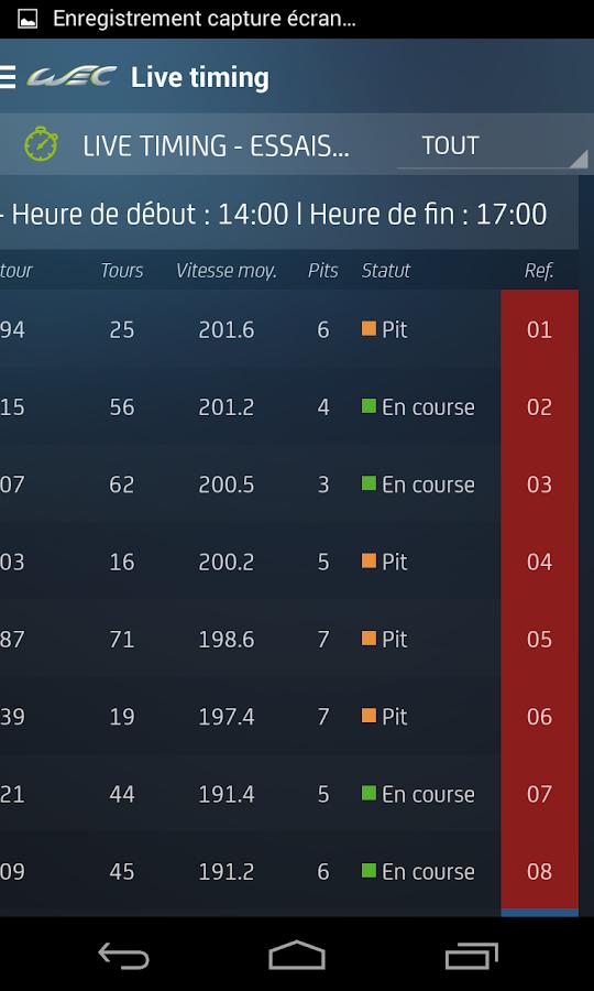 WEC® - screenshot