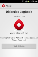 Screenshot of Diabetes Log Book