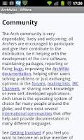 Screenshot of AWOL: ArchWiki Offline