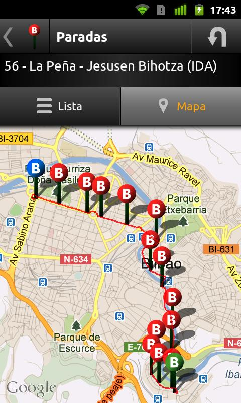 Bilbao Bus - screenshot