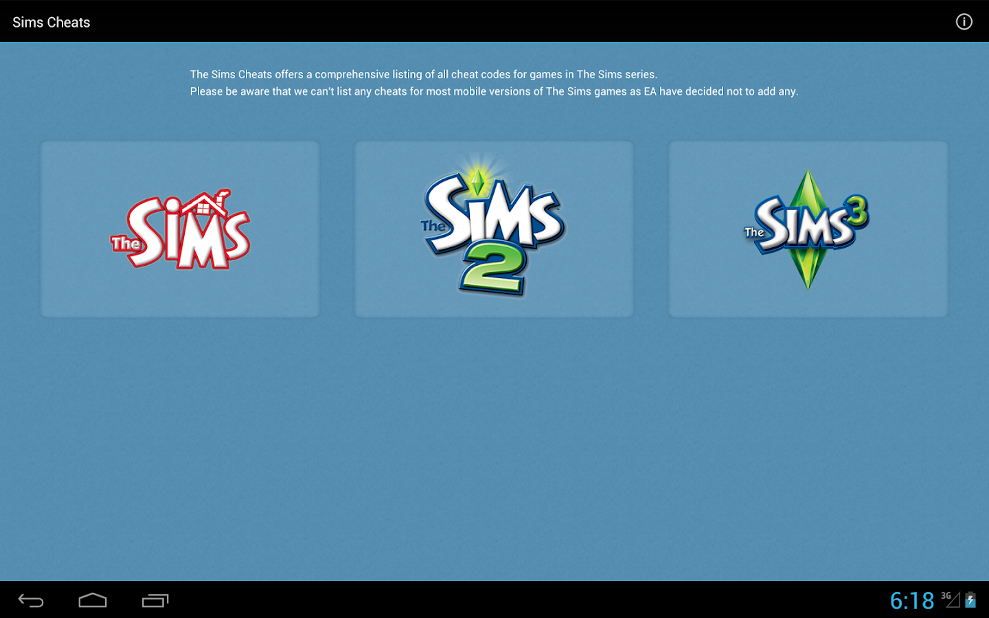 Cheats for The Sims 1, 2 and 3 - screenshot