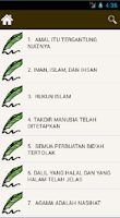 Screenshot of Syarah Arbain Nawawi