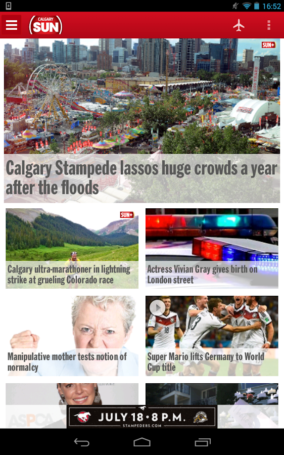Calgary SUN+- screenshot
