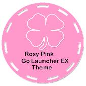 Rosy Pink Go Launcher EX Theme