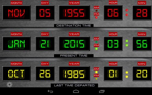 Time Circuits Dashboard Clock