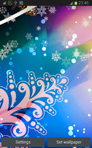 Snowing Xmas Lights HD LWP