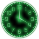 Green Glow Code Clock Widget icon