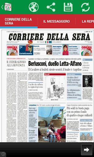 Front Pages of Italy