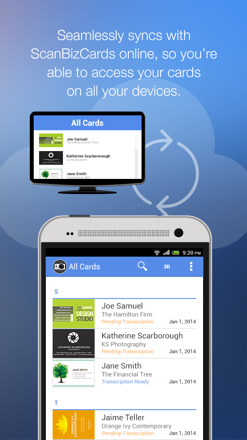 ScanBizCards Lite - Scan Card- screenshot