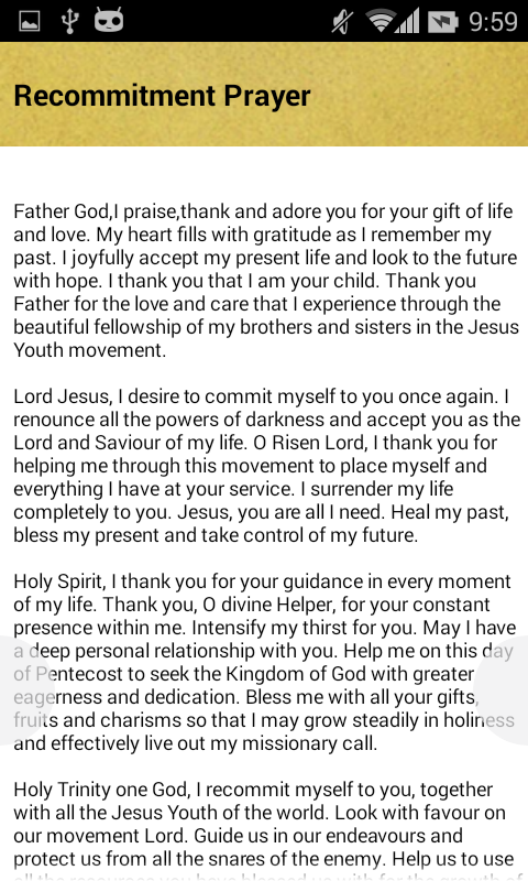 Jesus Youth Prayer - screenshot