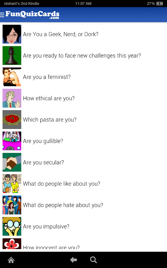 Fun Personality Quizzes - screenshot