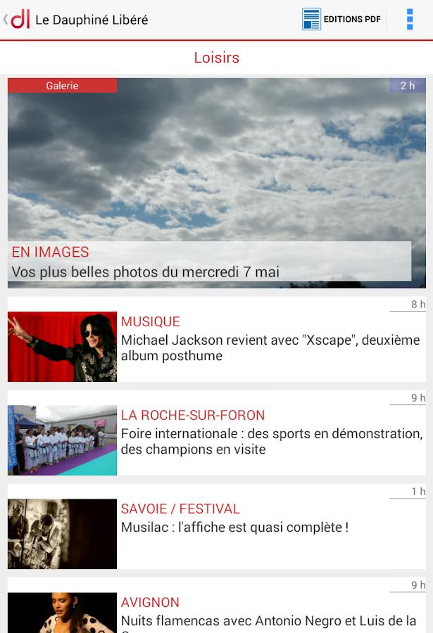 Le Dauphiné Libéré- screenshot
