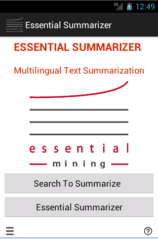Essential Summarizer