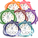 ストライプリボンの時計ウィジェットパック icon