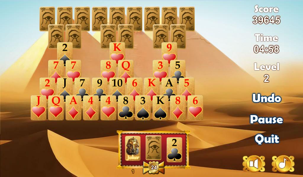 tripeaks pyramid solitaire