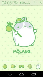 Molang Clover Green Atom theme screenshot 1