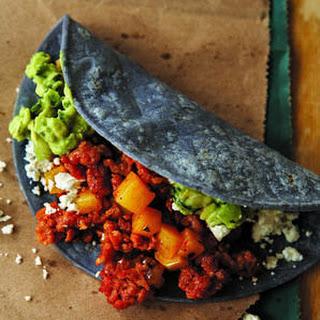 Chorizo And Potato Tacos.